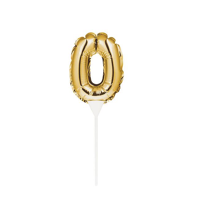 Self-Inflating Gold 0 Mini Balloon