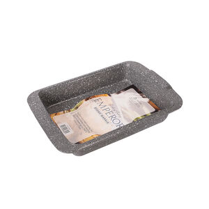 Emperor Grey Marble Non-Stick Large Roaster