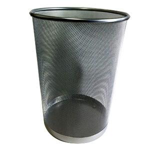 Large Mesh Waste Paper Bin Silver
