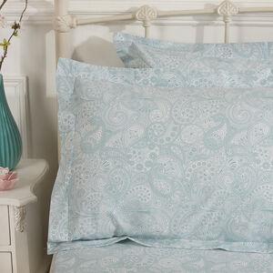 Indian Pinecone Blush Oxford Pillowcase Pair
