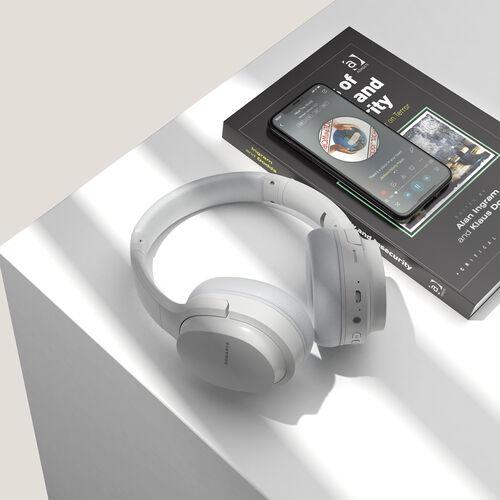 Sonarto White Bluetooth Foldable Headphones