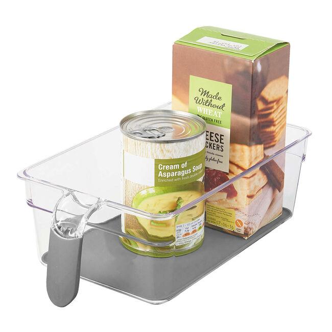 Clear Handled Storage Basket Medium