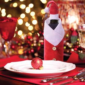 Santa Wine Bottle Cover