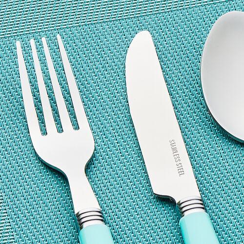 Master Cutler Fete Cutlery Set 16 Piece - Duck Egg