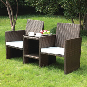 Venice Rattan 2 Seater Companion Set