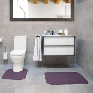 Cotton Plain Dye Heather Bathroom Set