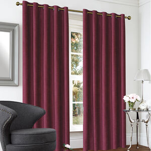 BLACKOUT & THERMAL TEXTURED NATURAL 66x54 Curtain