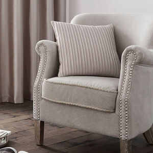 Velvet Pleat Champagne Cushion 40cm x 40cm