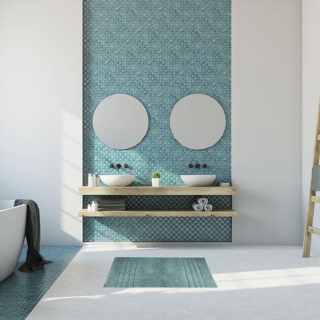 Horizon Bath Mat 40 x 60cm - Duck Egg