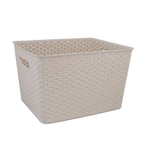 Geometric 19L Soft Grey Basket
