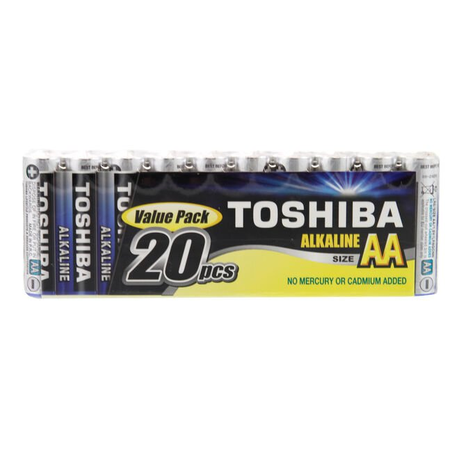 Toshiba Value AA Batteries 20 Pack