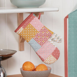 Patchwork Geo Single Oven Glove
