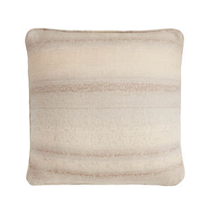 Textured Stripe Cushion 45x45cm - Cream