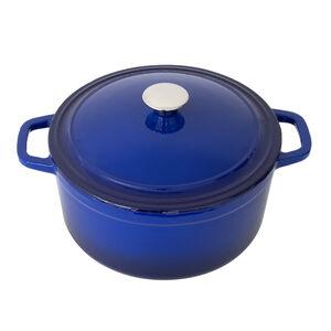 Cast Iron Blue Round Casserole Dish 5.2L