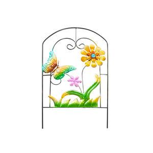 Decorative Floral Garden Picket Fence