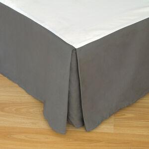DOUBLE BASE VALANCE 200 Threadcount Cotton Grey