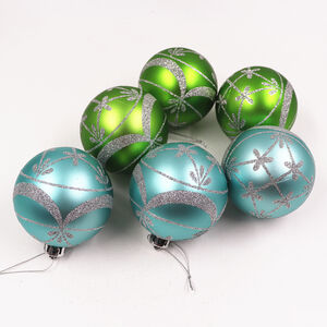 Green Luxury Bauble Set - 6 Pack