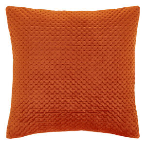 Velour Stitch Cushion 58x58cm - Terra