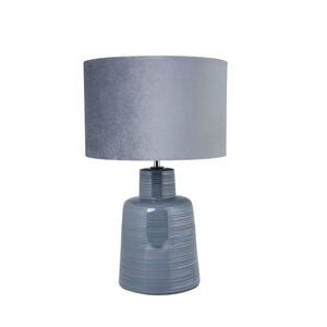 Antibes Glazed Table Lamp Grey