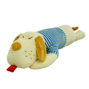 Lying Dog Blue Cushion 70cm