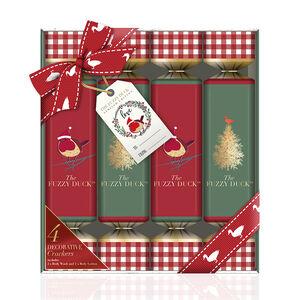 Fuzzy Duck Winter Wonderland 4 Crackers Set