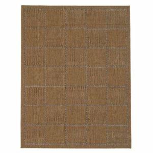 Checked Flatweave Doormat Natural