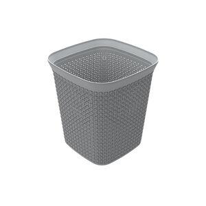 Ezy Mode 13L Squared Waste Bin Stone Grey