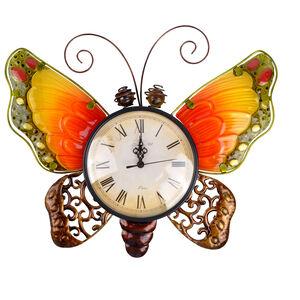 Butterfly Glass Clock