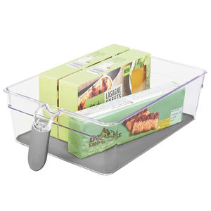 Clear Handled Storage Basket Large