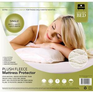 Plush Fleece Mattress Protector