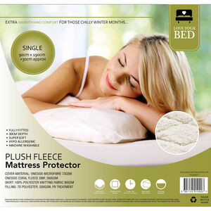 Plush Fleece Mattress Protector