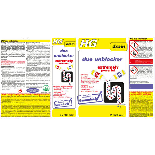 HG Duo Unblocker 2x500ml