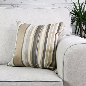 Ruth Stripe Beige Cushion 45cm x 45cm