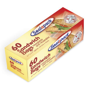 Sealapack Resealable Sandwich Bags