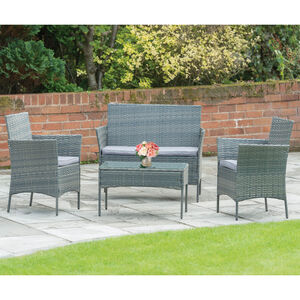 Cannes Rattan 4 Piece Garden Set