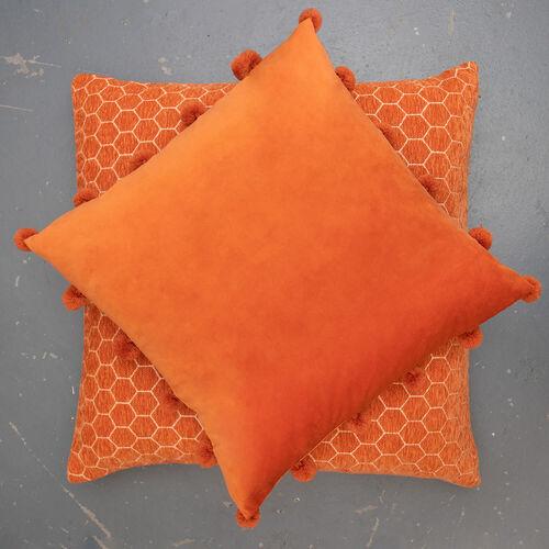 Honeycomb Cushion 58x58cm - Orange