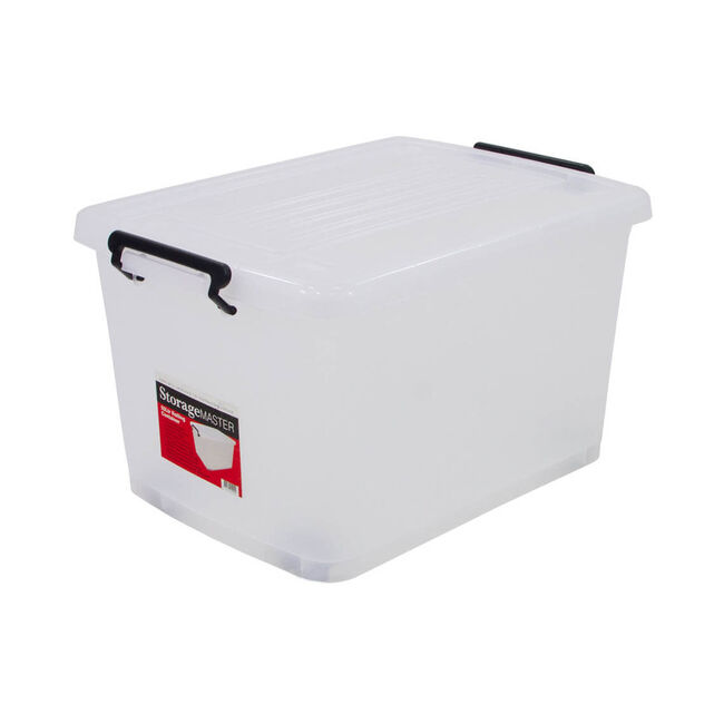 Rolling Storage Container with Lid 55L