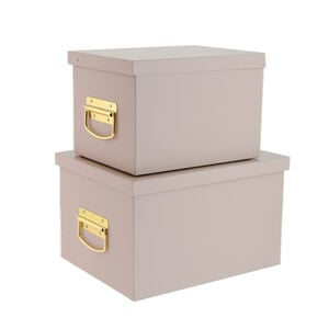 Set of Two Pink Storage Trunks