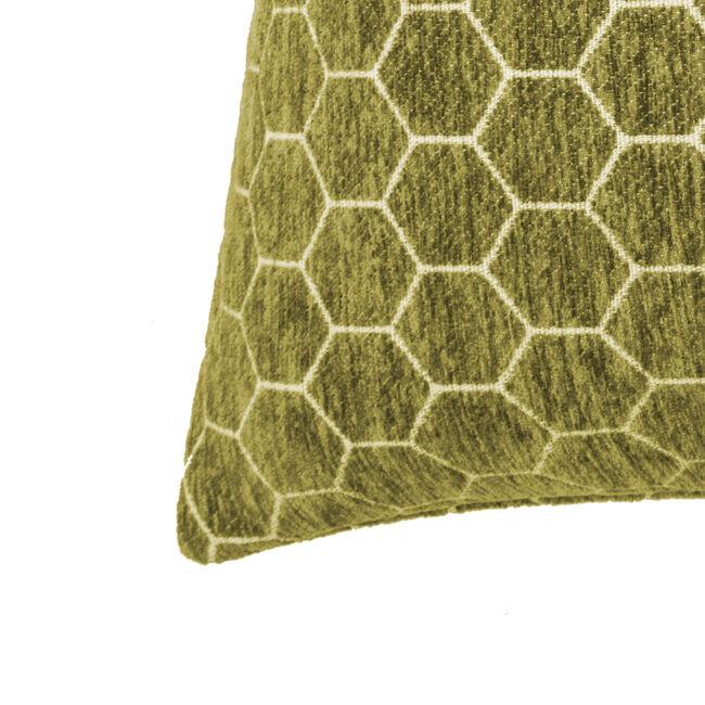 Honeycomb Cushion 45x45cm - Olive Green