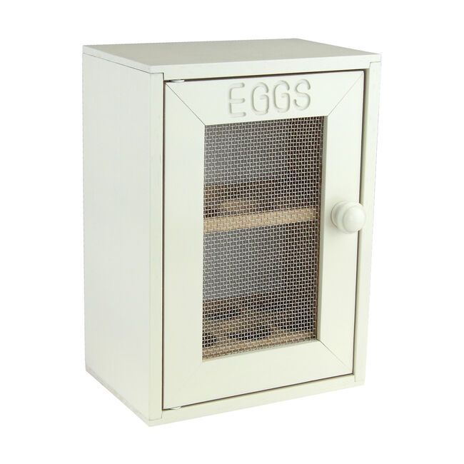 Apollo Rubberwood Egg Cabinet - Cream
