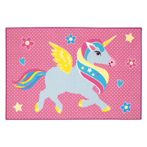 Fairy Unicorn Childrens Floormat 100x150cm