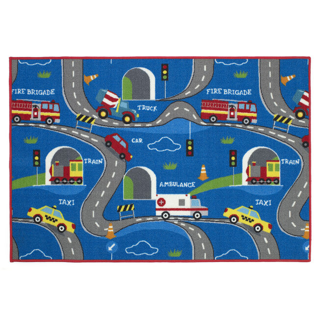 Beep Beep Childrens Floormat 100cm x 150cm