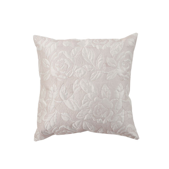 Quilted Rose Cream & Gold Cushion 45x45cm