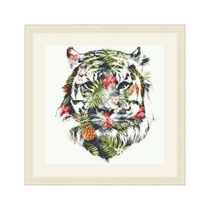 Tropical Tiger Framed 37x37cm