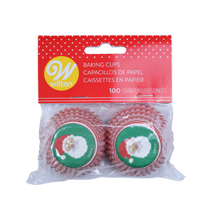 Wilton Santa Claus Mini Cupcake Cases - 100 Pack