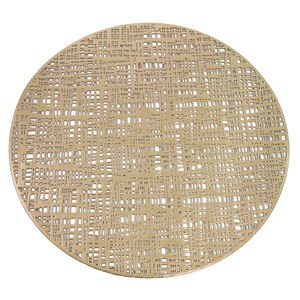 Round Gold Placemat