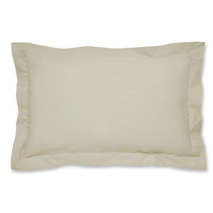 Luxury Percale Oxford Pillowcase Pair - Natural