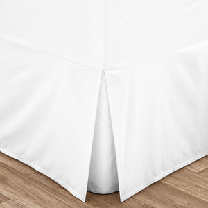 SINGLE VALANCE SHEET Luxury Percale White