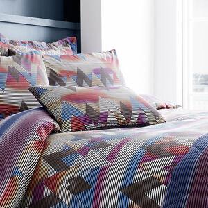 Topsy Turvy Berry/Navy Cushion 30cm x 50cm