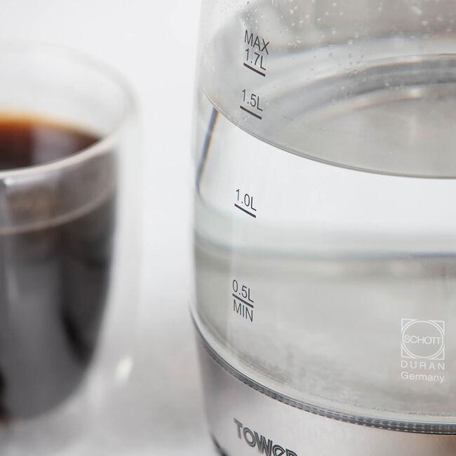 Tower Rapid Boil Glass Kettle 1.7L